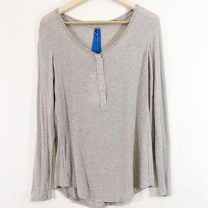 Kit and Ace Snappy Long Sleeve Henley Top Size 10